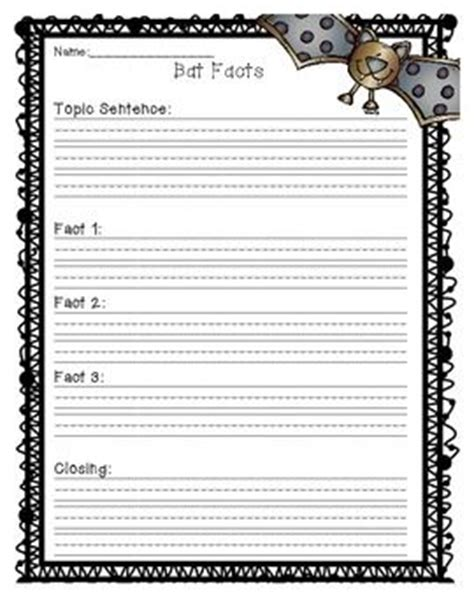 bat writing paper bat facts bats and writing papers on