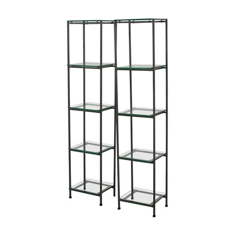 crate and barrel bookcase 59 off crate barrel crate barrel glass bookcases