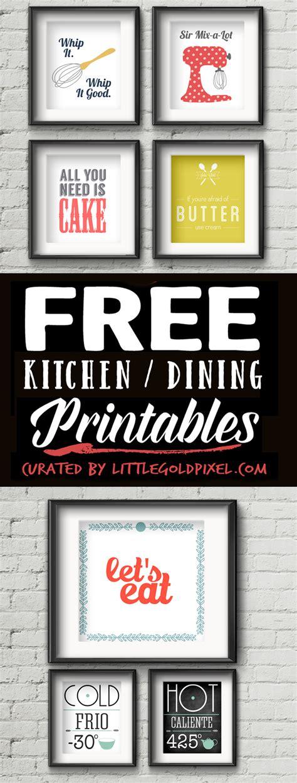 Free Kitchen Printables by Free Printables Kitchen Wall Gold Pixel