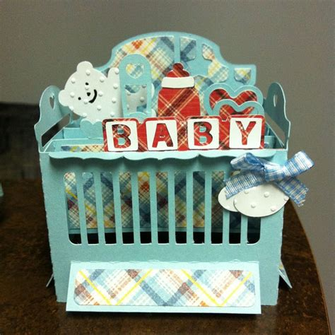 crib card template boy baby crib box card svgcuts graphic45 3d creations
