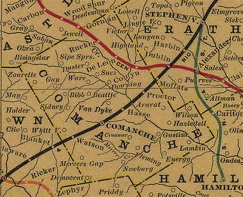comanche county texas map comanche county map
