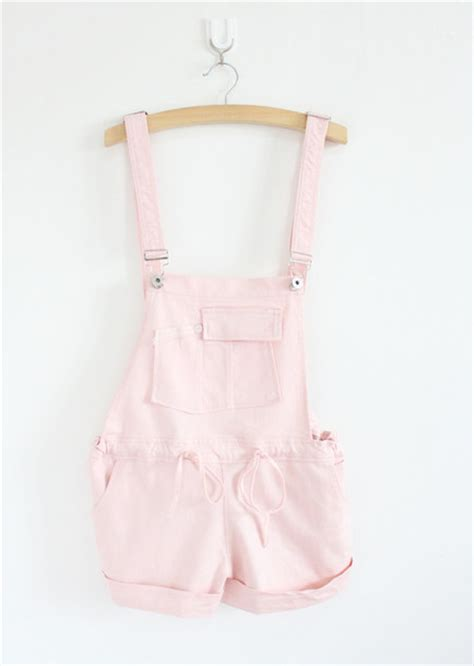 Overal Koreapink romper overalls girly pastel pastel pink wheretoget