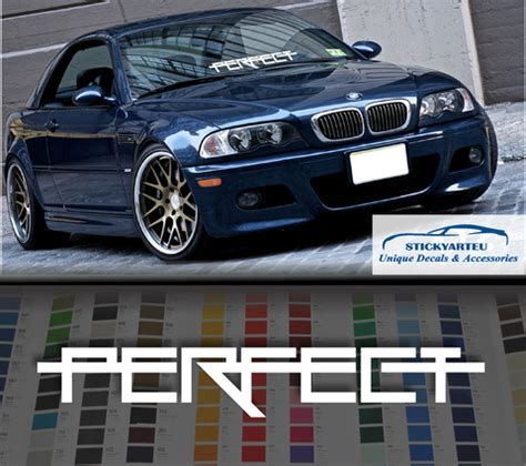 Bmw Perfect Sticker by Perfect Fitment Violent Windshield Car Sticker Decal