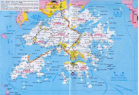 map of hong kong hongkong map map of hongkong china hongkong city tourist map