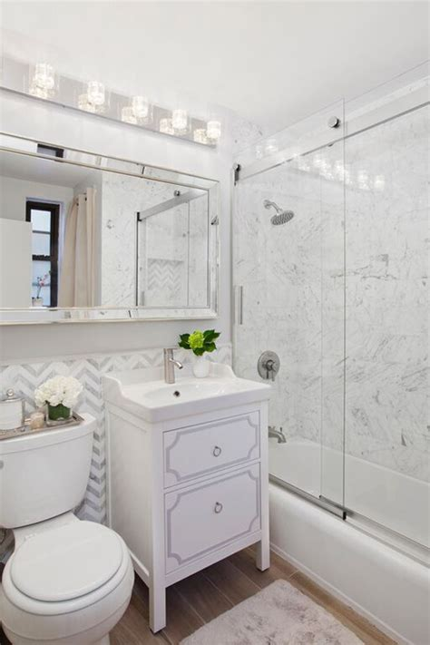 long bathroom mirror large tile small bathroom ideas a jaw dropping apartment makeover on a budget huffpost