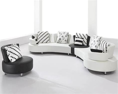 white and black sofa set white and black bonded leather sectional sofa set 44l2803