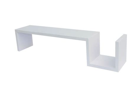 Floating Shelf Unit by S Shaped High Gloss Floating Wall Shelves Units Dvd Cd