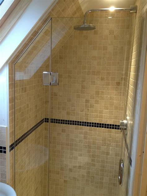 Sloped Ceiling Shower by Loft Sloping Ceiling Showers Glass360 Specialist And