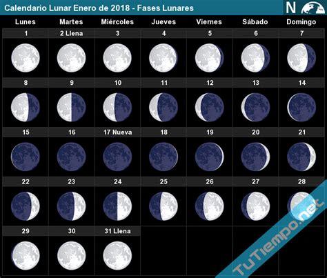 Calendario Lunar Marzo 2018 Calendario Lunar Enero De 2018 Fases Lunares