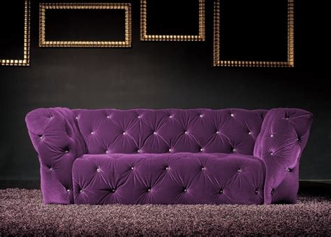canapé chesterfield violet canap 233 3 places velours violet royal chesterfield