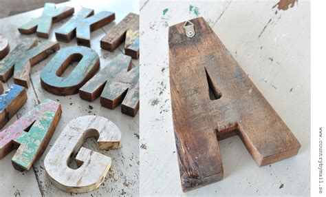 Handmade Wooden Letters - wooden letter handmade recycled wood 18 cm 20