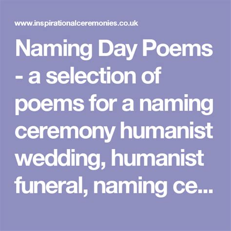 Wedding Blessing Humanist by Naming Day Poems A Selection Of Poems For A Naming