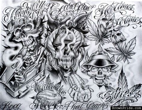 The Most Awesome Boog Tattoo Artist Intended For Tattoo Chicano Flash
