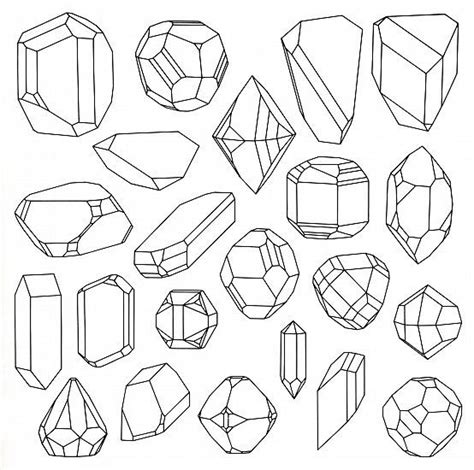 printable coloring pages gemstones crystallography science engineering