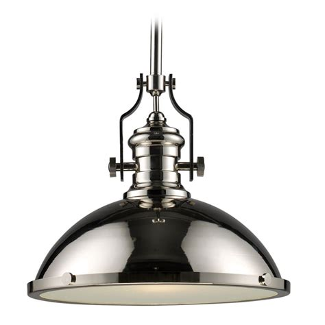 Nautical Pendant Lights Nautical Pendant Light In Polished Nickel Finish 66118 1 Destination Lighting