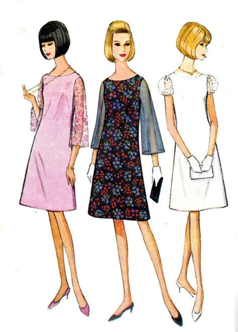sewing pattern shift dress a line shift dress 1960s vintage sewing pattern mccall s