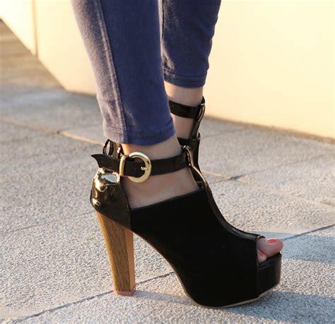 heels suede korean 8291 korean suede pu high heels shoes chunky fish boots