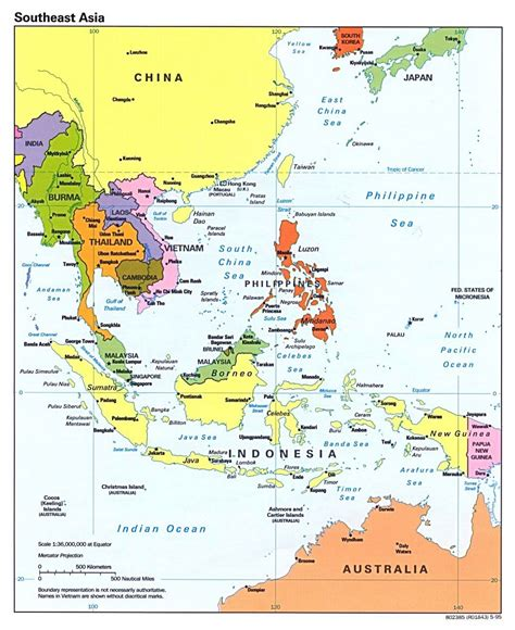 south asia map with capitals detailed political map of southeast asia with capitals and
