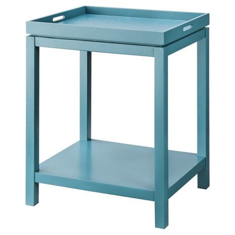 Teal End Table by Threshold Tray Side Table Teal Pad Furnish
