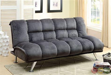 Comfy Futon Mattress by Marbelle Gray Sofa Set With Chion Fabric