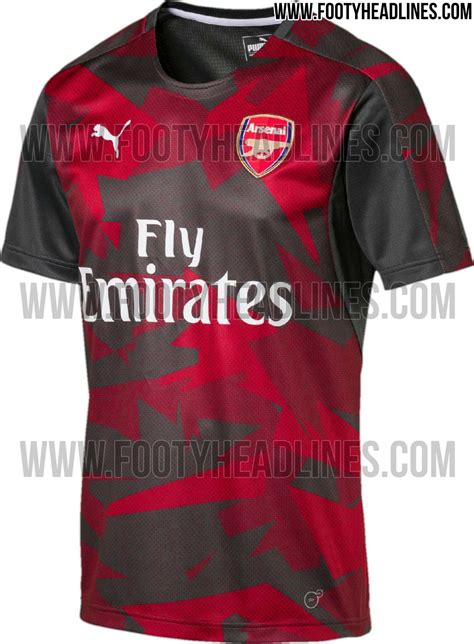 Tshirt Epl Arsenal 8 outstanding arsenal 17 18 pre match home away