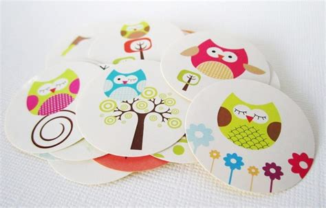 Stiker Pengiriman Onlineshop Owl owl label stickers 183 adorebynat 183 store powered by storenvy