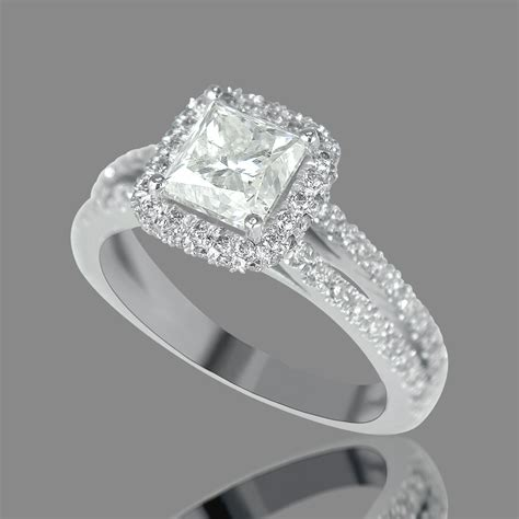 3 carat princess cut engagement ring f si1 18k