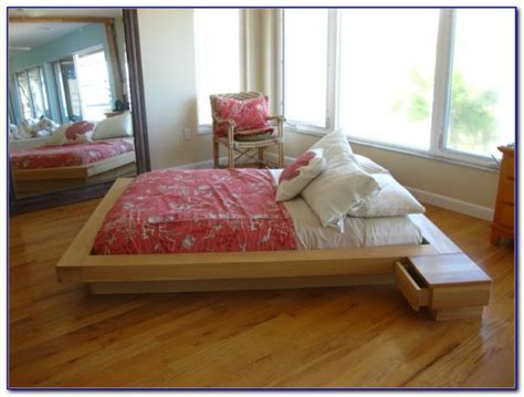 wood platform bed frame no headboard headboard home