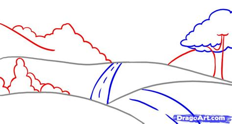 how to draw landscape how to draw a landscape step by step other landmarks