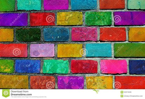 color brick wall stock photo image 55374345