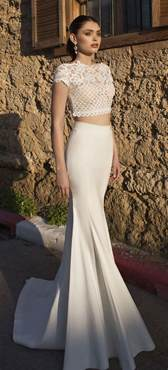 bridal trends two piece wedding dresses magazine