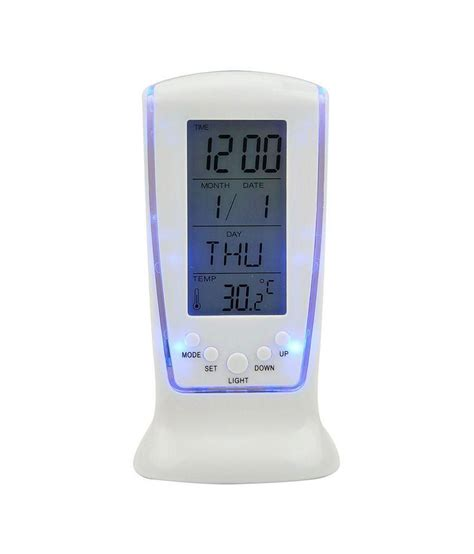 buy digital clock absales digital alarm table clock white buy absales digital alarm table clock white at best