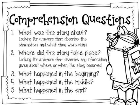 reading comprehension test questions and answers 17 best images about 2nd grade on pinterest singular and