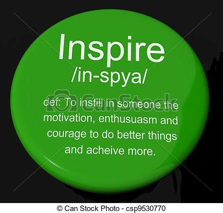 Vector Artwork Definition by Stock Illustration Of Inspire Definition Button Shows