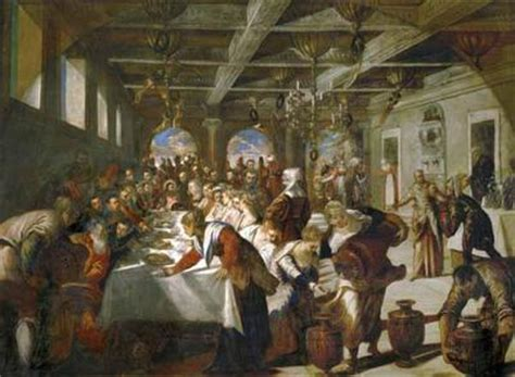 Wedding At Cana Text by The Wedding At Cana Tintoretto Print Canvas