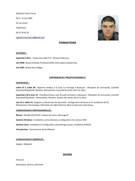 Exemple De Lettre De Motivation Trackid Sp 006 exemple de cv permis b cv anonyme