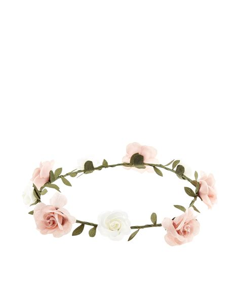 Bando Forever21 Flower Pattern Hair Band simple flower crown bando pink accessorize
