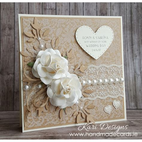 Wedding Card Handmade Ideas by Beautiful Vintage Style Wedding Card We009