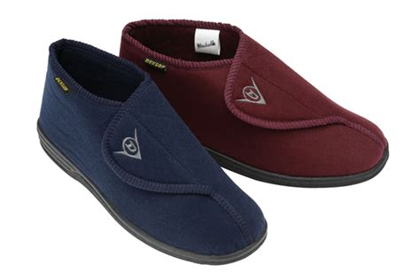 orthopedic mens slippers mens dunlop velcro orthopedic wide fit washable warm
