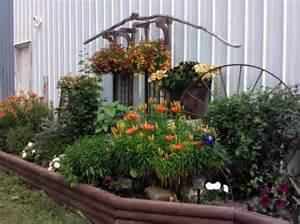 my rustic flower bed flower beds pinterest wheels