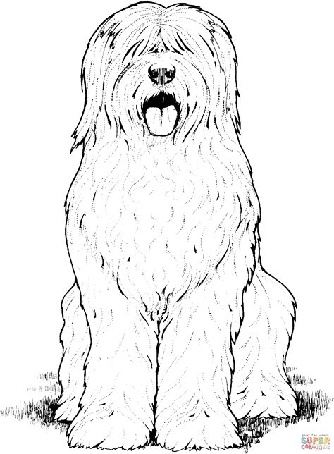 a book coloring page supercoloring com old english sheepdog coloring online super coloring
