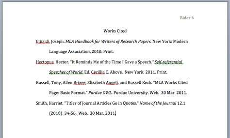 work cited for research paper mla style papers works cited page layout jerz s