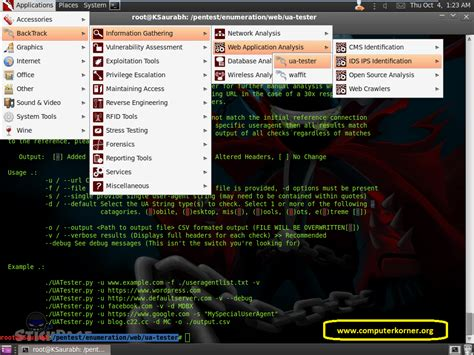 tutorial linux backtrack 5 r3 ua tester information gathering tool tutorial