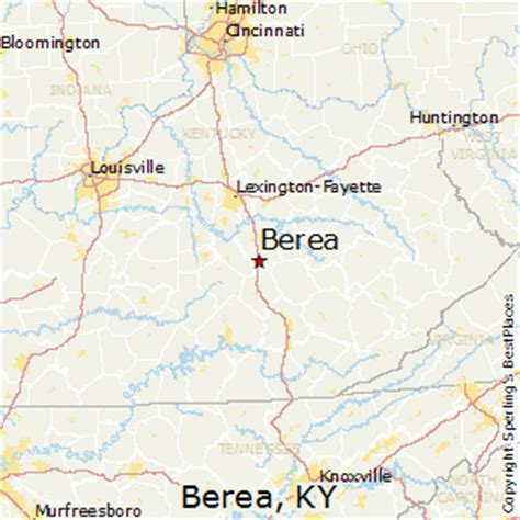 kentucky map berea best places to live in berea kentucky
