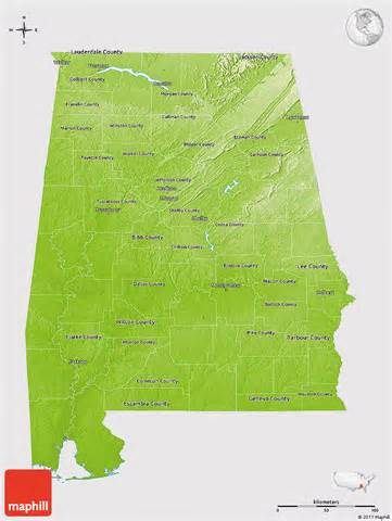 united states map alabama physical 3d map of alabama cropped outside