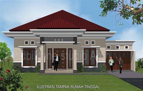 gambar rumah jual gambar desain arsitek rumah tinggal satu lantai 195m kode a101