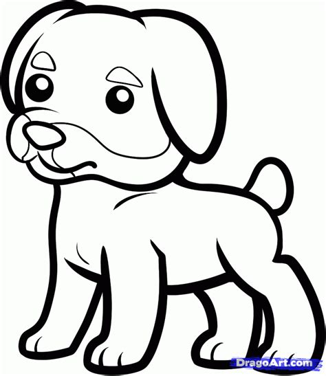 rottweiler puppies coloring pages how to draw a rottweiler for kids step by step animals