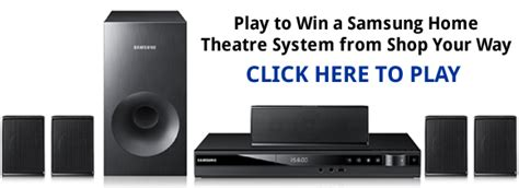 shop your way samsung home theatre instant win