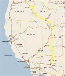 map of oregon idaho and utah part 1 on our way to oregon through arizona utah and