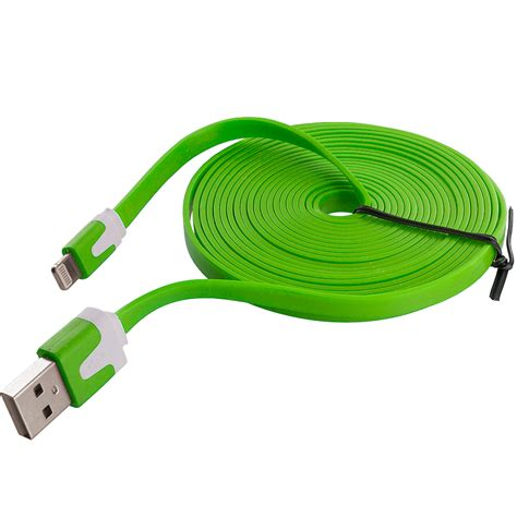 10 ft phone charger 10 ft noodle flat sync usb data charger cable cord 10ft